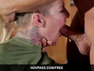 Military girl Christy Mack gets her trimmed pussy penetrated by her powerful colleague  4