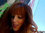 Naughty Carol Vega trying diversify her intimate life by having sex in the public place   6