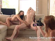 Lustful female agent has her own intimate methods in casting of potential teen models