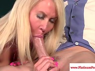 Spectacular cougar Erica Lauren wildly attacked youngster's delicious boner