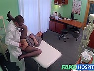 Amateur dame came to the hospital for medical examination, but got a special sexual therapy