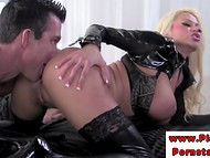 Impudent man had a great opportunity to spend his time with crazy mistress Nikita Von James