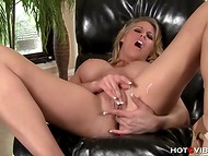 When Charisma Capelli is masturbating her pussy, she prefers her sex toys to be near at hand