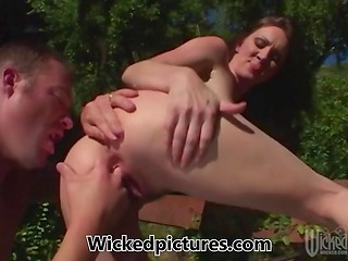 Randy Rayveness's mouth was filled with fresh semen after divine sex action