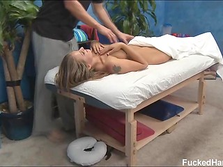 Marvelous babe named Lizzy from time to time visits masseur to relax her body