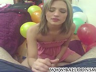 Cheyenne Cooper thinks that handjob is the best present for the birthday party