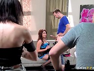 Ardent beauty Christiana Cinn gets banged in front of the director right on the set 4