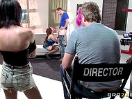 Ardent beauty Christiana Cinn gets banged in front of the director right on the set 5