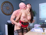 Reena Sky appreciates hard-working employee, because he can resolve her intimate diseases  6