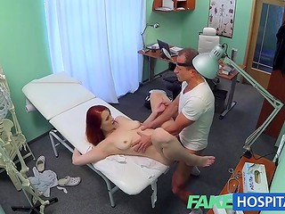 Fake Hospital: raunchy doctor uses strange methods to cure redhead's sexual diseases