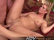 Awesome HD porn scene starring blonde coquette Tara Lynn with natural tits and trimmed pussy
