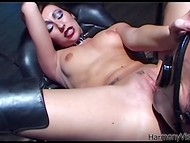 Bizarre BDSM video with several odd ladies, who practice sexual deviations with toys and slaves
