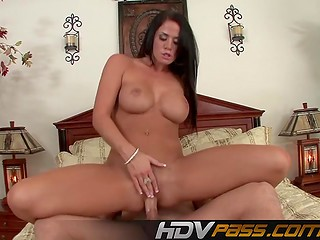 Hot fucking action with tanned curvy brunette Savannah Stern ends with facial cumshot