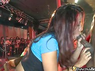 Crazy show of the black stripper fascinated all girls, especially this greedy cocksucker