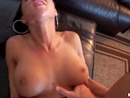 Athletic babe with big tits was caught on the camera fucking her horny pal 11