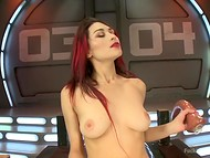Lonely redhead brighten up the loneliness with a hot masturbation in the bunker 5