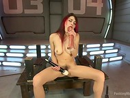 Lonely redhead brighten up the loneliness with a hot masturbation in the bunker 6