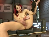 Lonely redhead brighten up the loneliness with a hot masturbation in the bunker 7