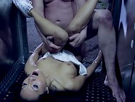 Astounding Asa Akira got her pussy roughly drilled by the owner of the trailer 11