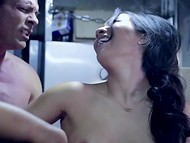 Astounding Asa Akira got her pussy roughly drilled by the owner of the trailer 5