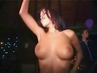 Amateur busty naked babe walking down the street