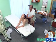 Doctor helps this pure dame to rehabilitate her deep cunt using natural therapy