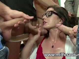 Sexual education lesson with a magnificent teacher for adult boys, who missed it at school