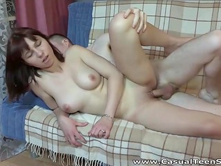 Teen Russian redhead was picked up in the park by the skilled seducer and shortly after fucked