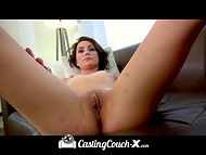 Amateur young puss willingly came to the porn casting to take the chance in the adult industry 5