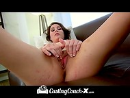 Amateur young puss willingly came to the porn casting to take the chance in the adult industry 6