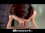 Amateur young puss willingly came to the porn casting to take the chance in the adult industry 7
