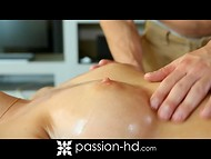 After relaxing massage girl was agree for playful continuation with hot master 6