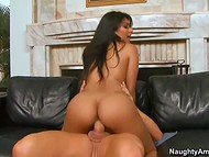 Shazia Sahari is a superb tanned gal, who loves to play with man's cock 10