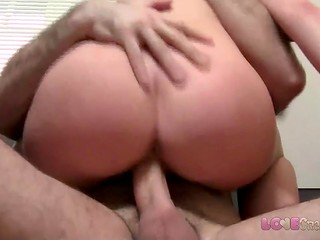Emotional brunette was very angry that the agent came inside her pussy
