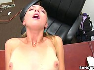 Entrancing youngster got her skinny body teared apart at the casting 7