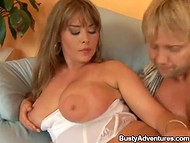 Blonde fellow was extremely happy pounding bewitching MILF Krystal De Boor 6