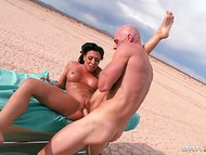 Hard working Johnny Sins was using his immense cock to copulate with playful hottie in the desert 11