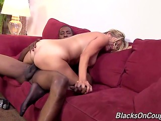 Business lady gladly works huge black dick and deserves a powerful vaginal creampie