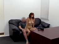 Sweety brown-haired bella appeased sex agent to get a good recommendation