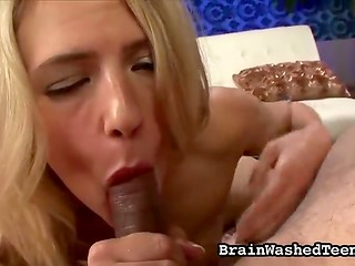 Stupid wench isn't against the unrepeatable sex and hot blowjob on the POV camera