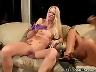 Mistress with highlighted hair couldn't resist and joined dirty girlish games