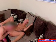 British agent took the time to examine in detail pleasant blonde's sweet pussy