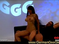 Brave Asian whore resists any sexual challenges by crazy German fuckers