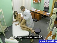 Doctor helps sexy patient to squirt for the first time in her life using his pretty hot cock and fast fingers