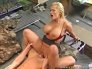 Thoughtful chick Shyla Stylez came to visit her mate Johnny Sins in the barracks