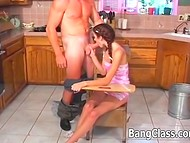 Delicate Chloe was punished for poor performance by boner of her merciless teacher