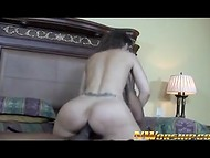 Spectacular wife is tired of housekeeping and wants to ride black rod 9