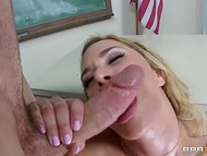 Sexy moans of aesthetic goddess Shyla Stylez could be heard from the classroom 10