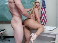 Sexy moans of aesthetic goddess Shyla Stylez could be heard from the classroom 6