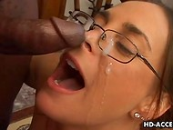 Hungry madam didn't taste nothing more delicious than huge black member